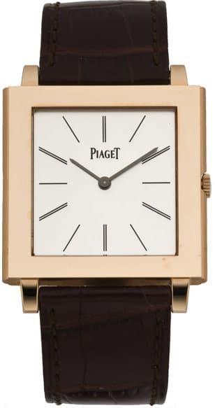 Piaget Rose Gold Mecanique Large Rectangular