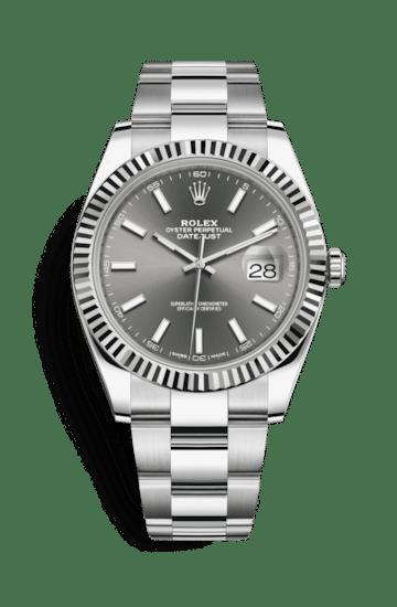 Rolex 126334-0013 Datejust Dark Rhodium Dial 41 mm