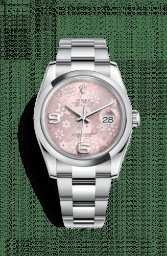 Rolex 116200-0072 Datejust Rose Floral Dial 36 mm