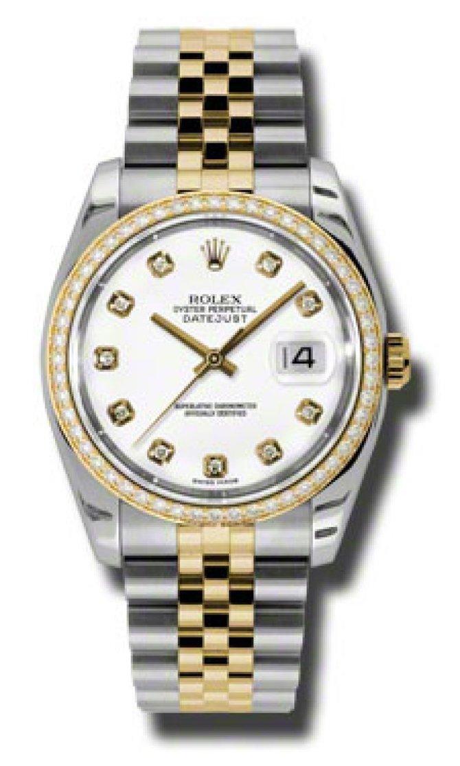 Rolex 116243wdj Datejust White Dial 36 mm