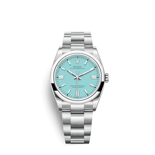 Rolex 124300-0006 Oyster Perpetual Aftermarket «Tiffany» Dial  41 mm