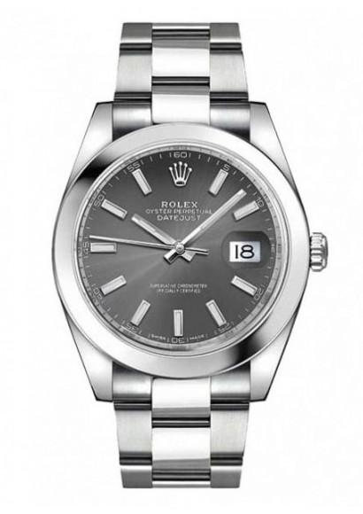 Rolex 126300 Datejust Dark Rhodium Dial 41 mm