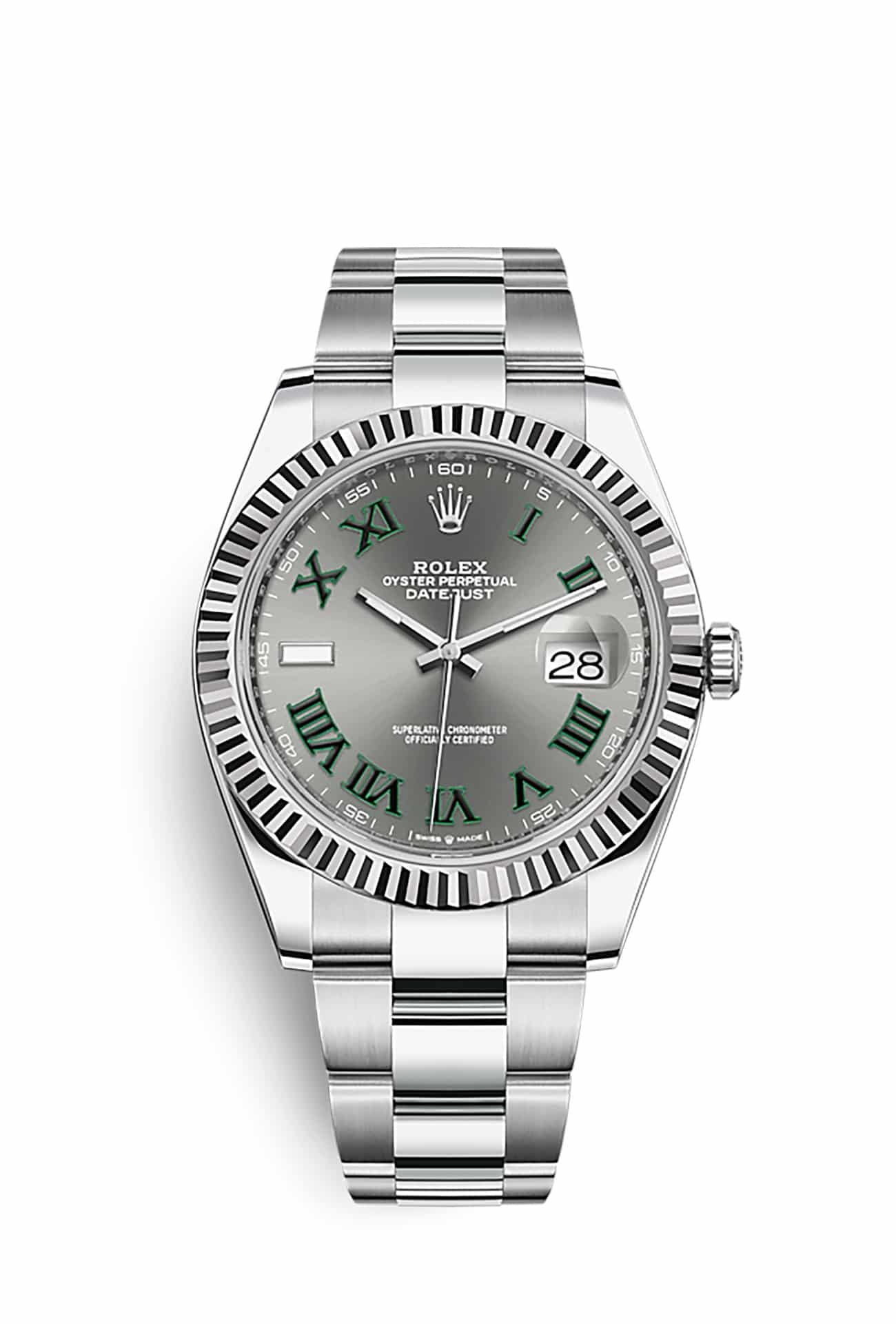 Rolex 126334-0021 Datejust Oyster 41 мм Steel and White Gold
